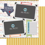 Scrapbook Customs - Travel Photo Journaling Collection - 12 x 12 Double Sided Paper - Texas - Quick Page Journal