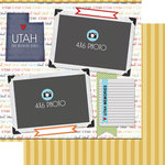 Scrapbook Customs - Travel Photo Journaling Collection - 12 x 12 Double Sided Paper - Utah - Quick Page Journal