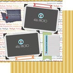 Scrapbook Customs - Travel Photo Journaling Collection - 12 x 12 Double Sided Paper - Washington - Quick Page Journal