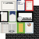 Scrapbook Customs - Sports Pride Collection - 12 x 12 Double Sided Paper - Volleyball - Journal