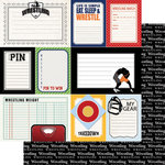 Scrapbook Customs - Sports Pride Collection - 12 x 12 Double Sided Paper - Wrestling - Journal