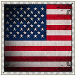 Scrapbook Customs - 12 x 12 Paper - USA - Sightseeing Flag