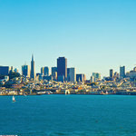 Scrapbook Customs - 12 x 12 Paper - San Francisco Skyline - Distant