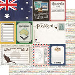 Scrapbook Customs - Travel Photo Journaling Collection - 12 x 12 Double Sided Paper - Australia