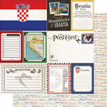 Scrapbook Customs - Travel Photo Journaling Collection - 12 x 12 Double Sided Paper - Croatia