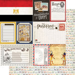 Scrapbook Customs - Travel Photo Journaling Collection - 12 x 12 Double Sided Paper - Egypt