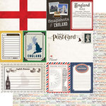 Scrapbook Customs - Travel Photo Journaling Collection - 12 x 12 Double Sided Paper - England