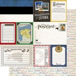 Scrapbook Customs - Travel Photo Journaling Collection - 12 x 12 Double Sided Paper - Estonia