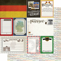 Scrapbook Customs - Travel Photo Journaling Collection - 12 x 12 Double Sided Paper - Germany
