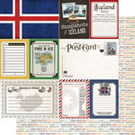 Scrapbook Customs - Travel Photo Journaling Collection - 12 x 12 Double Sided Paper - Iceland