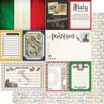 Scrapbook Customs - Travel Photo Journaling Collection - 12 x 12 Double Sided Paper - Italy