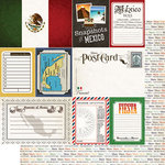 Scrapbook Customs - Travel Photo Journaling Collection - 12 x 12 Double Sided Paper - Mexico