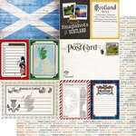 Scrapbook Customs - Travel Photo Journaling Collection - 12 x 12 Double Sided Paper - Scotland