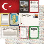 Scrapbook Customs - Travel Photo Journaling Collection - 12 x 12 Double Sided Paper - Turkey