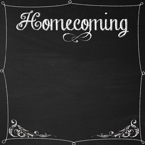 Scrapbook Customs - Chalkboard Collection - 12 x 12 Paper - Homecoming
