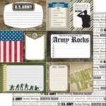 Scrapbook Customs - United States Military Collection - 12 x 12 Double Sided Paper - Army