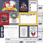 Scrapbook Customs - United States Military Collection - 12 x 12 Double Sided Paper - Navy Wife