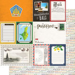 Scrapbook Customs - 12 x 12 Double Sided Paper - Journal - Bali