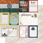 Scrapbook Customs - 12 x 12 Double Sided Paper - Journal - India