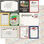 Scrapbook Customs - 12 x 12 Double Sided Paper - Journal - Asia