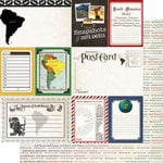 Scrapbook Customs - 12 x 12 Double Sided Paper - Journal - South America