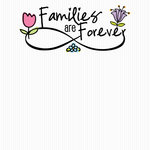 Scrapbook Customs - Families Are Forever Collection - 12 x 12 Paper - Flowers
