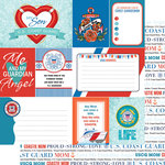 Scrapbook Customs - 12 x 12 Double Sided Paper - Journal - Coast Guard Mom