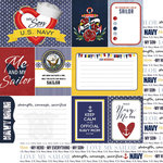 Scrapbook Customs - 12 x 12 Double Sided Paper - Journal - Navy Mom