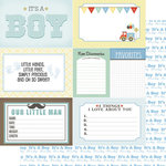 Scrapbook Customs - 12 x 12 Double Sided Paper - Journal Cards - Baby Boy