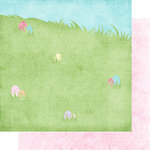 Scrapbook Customs - 12 x 12 Double Sided Paper - Easter Egg Hunt Hill Right