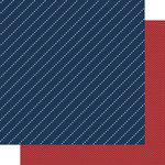 Scrapbook Customs - 12 x 12 Double Sided Paper - Father's Day Blue Stripe