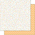 Scrapbook Customs - 12 x 12 Double Sided Paper - Happy Birthday Dots