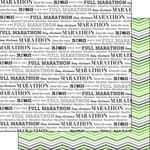 Scrapbook Customs - 12 x 12 Double Sided Paper - Full Marathon