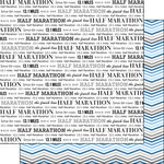 Scrapbook Customs - 12 x 12 Double Sided Paper - Half Marathon