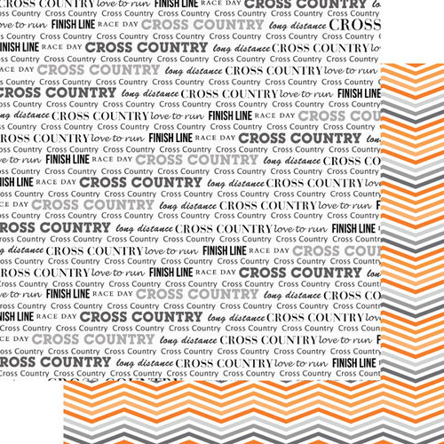 Scrapbook Customs - 12 x 12 Double Sided Paper - Cross Country