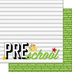 Scrapbook Customs - 12 x 12 Double Sided Paper - Pre-School Year