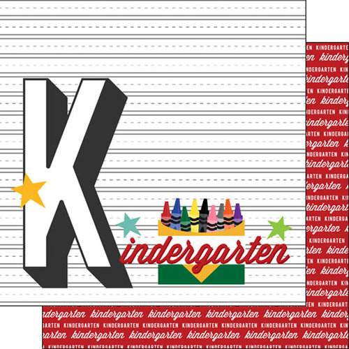 Scrapbook Customs - 12 x 12 Double Sided Paper - Kindergarten Year