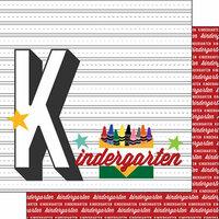 Scrapbook Customs - 12 x 12 Double Sided Paper - Kindergarten Year