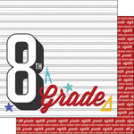Scrapbook Customs - 12 x 12 Double Sided Paper - 8th Grade Year