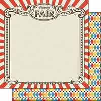 Scrapbook Customs - Fun at the Fair Collection - 12 x 12 Double Sided Paper - County Fair