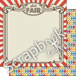 Scrapbook Customs - Fun at the Fair Collection - 12 x 12 Double Sided Paper - State Fair