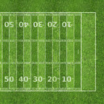 Scrapbook Customs - Sports Collection - 12 x 12 Paper - Football Field 2 - Right