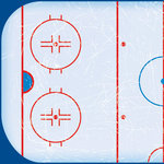 Scrapbook Customs - Sports Collection - 12 x 12 Paper - Hockey Ice - Left
