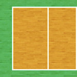 Scrapbook Customs - Sports Collection - 12 x 12 Paper - Volleyball Court - Left