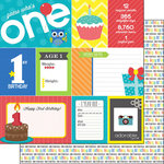 Scrapbook Customs - Happy Birthday Collection - 12 x 12 Double Sided Paper - 1st Birthday