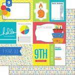Scrapbook Customs - Happy Birthday Collection - 12 x 12 Double Sided Paper - 9th Birthday