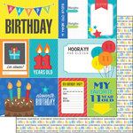 Scrapbook Customs - Happy Birthday Collection - 12 x 12 Double Sided Paper - 11th Birthday