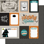Scrapbook Customs - 12 x 12 Double Sided Paper - Halloween Journal