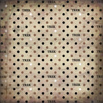 Scrapbook Customs - LDS Collection - 12 x 12 Paper - Pioneer Trek Antique - Grunge Initial Dots