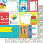 Scrapbook Customs - Happy Birthday Collection - 12 x 12 Double Sided Paper - 17th Birthday